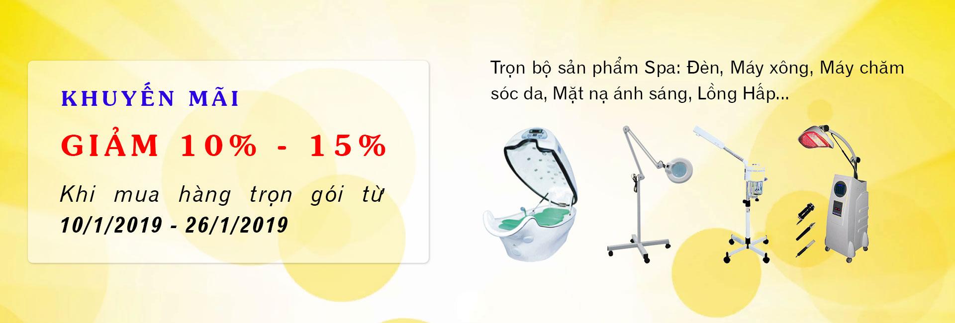 Khuyến mãi giảm 10% đến 15% khi mua trọn bộ sản phẩm SPA